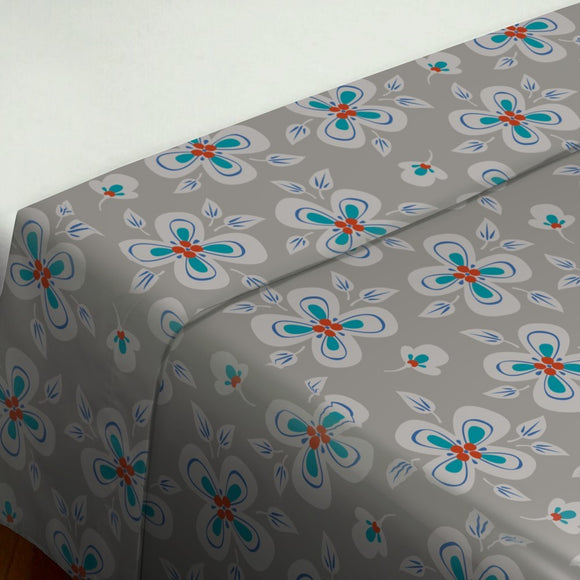 Flying Flowers Flat Sheets