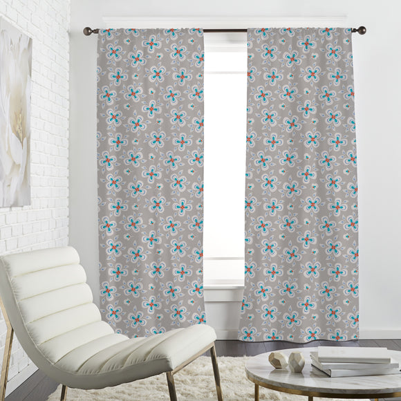Flying Flowers Curtains