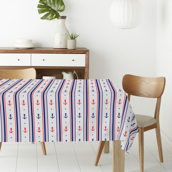 Ahoi Sailor Rectangle Tablecloths