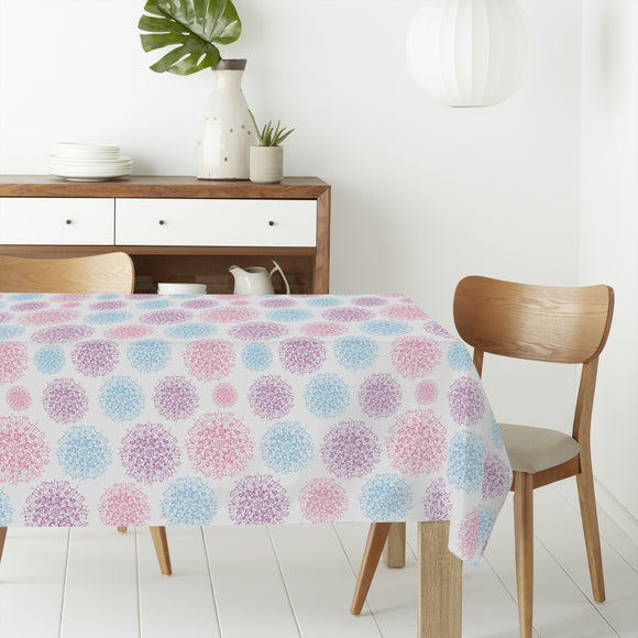 Abstract Snowflakes Rectangle Tablecloths