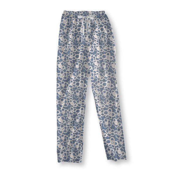 Brush Painted Blossoms Pajama Pants