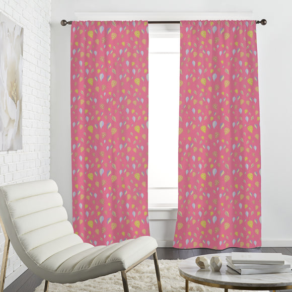 Girlish Leaves Curtains