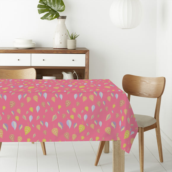 Girlish Leaves Rectangle Tablecloths