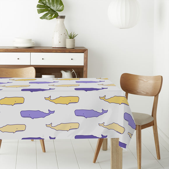 Cute Whales Rectangle Tablecloths