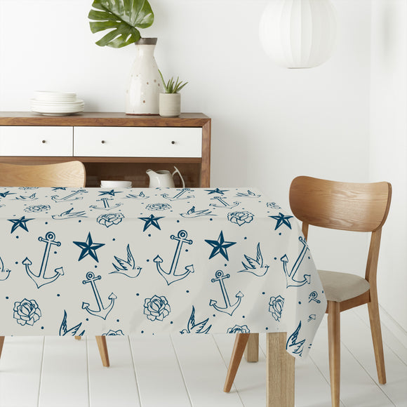 Nautic Tattoos Rectangle Tablecloths