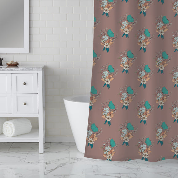 Merry Bouquet Shower Curtain