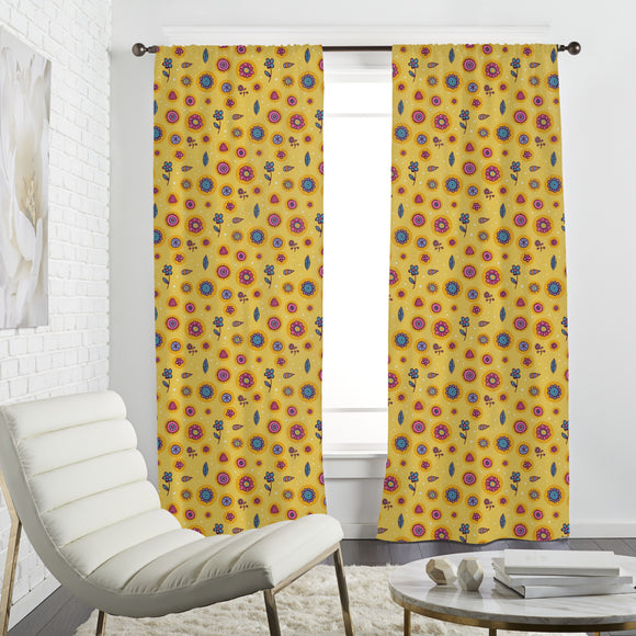 Floating Flowers Curtains