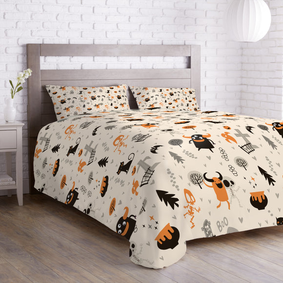 Skeletons and Monsters Duvet