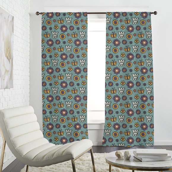 Butterfly Garden Dream Curtains