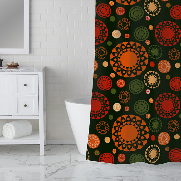 Circle Lace Shower Curtain