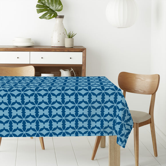Connected Ovals Rectangle Tablecloths