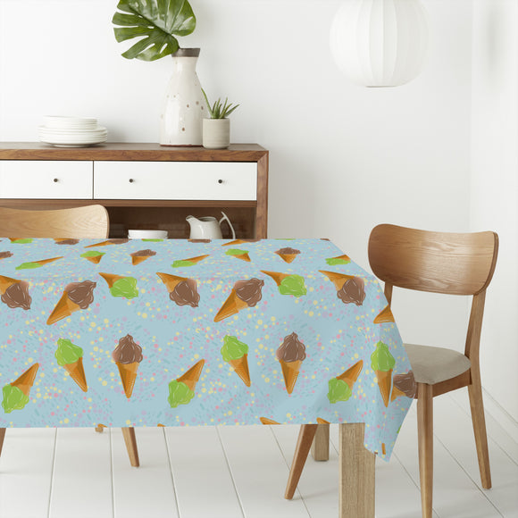 Ice Cream And Dots Rectangle Tablecloths