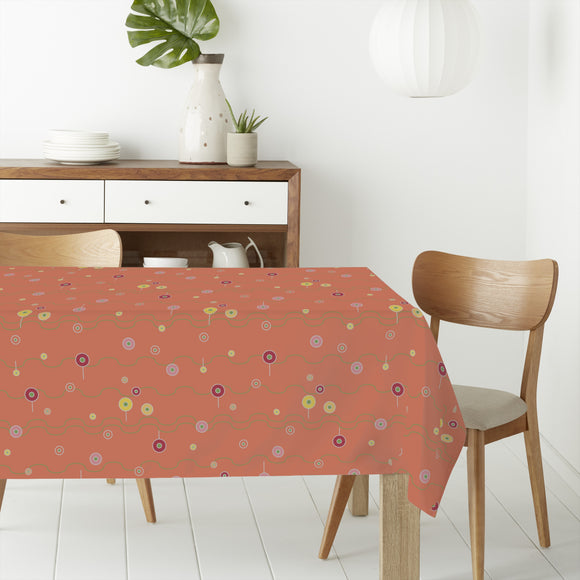 A Flower Or A Lolly Rectangle Tablecloths