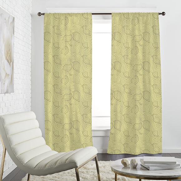 Drawn Leaves Curtains