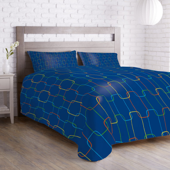 Geometric Chain Ornaments Duvet