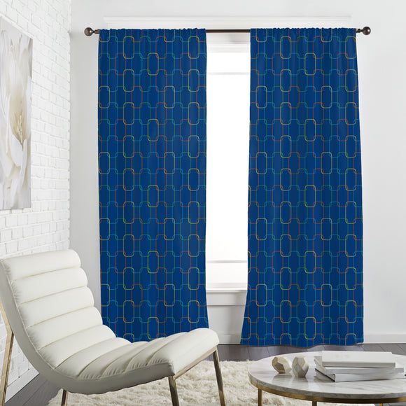 Geometric Chain Ornaments Curtains