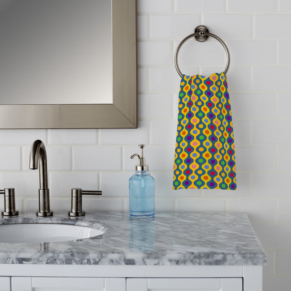 Cheerful Bright Stripes Hand Towel