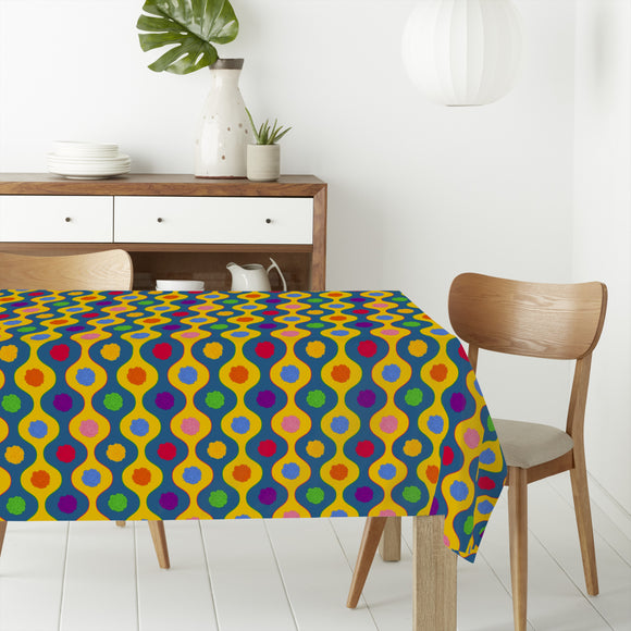 Cheerful Bright Stripes Rectangle Tablecloths