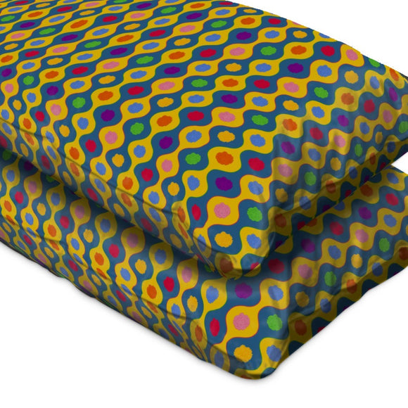 Cheerful Bright Stripes Pillow Case