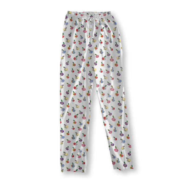 Embellished Apples Pajama Pants