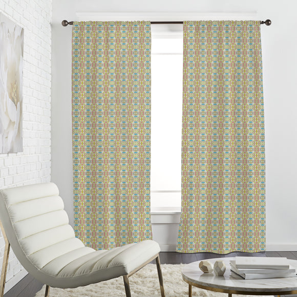 Checkered Batik Dream Curtains