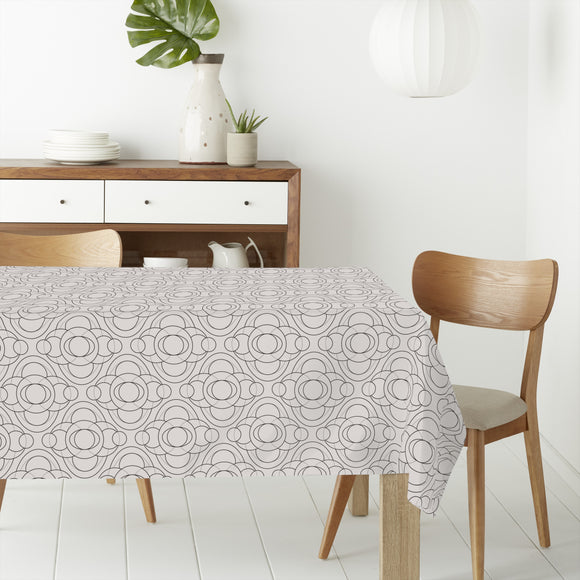 Monochrome Circles Rectangle Tablecloths