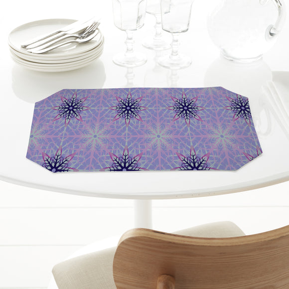 Abstract Ice Crystals Placemats