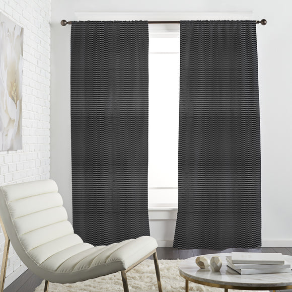 Monochrome Zigzag Curtains