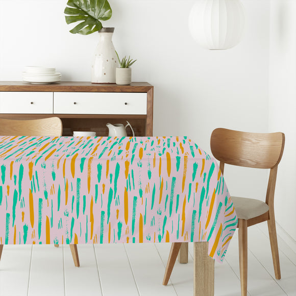 Abstract Brushstrokes Rectangle Tablecloths