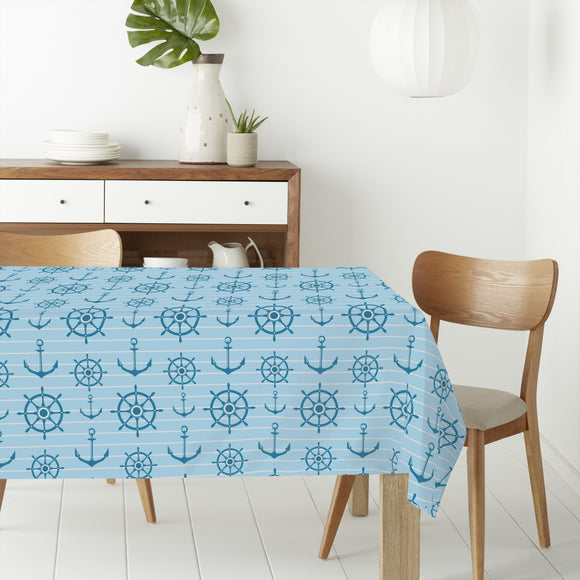 Ahoy Nautical  Rectangle Tablecloths