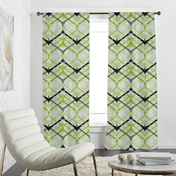 Crosswise Rhombus Curtains