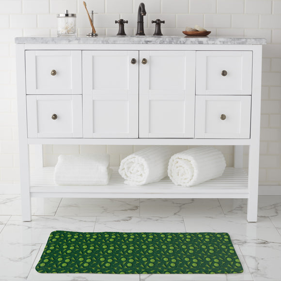 Summer Drinks  Bathroom Rug