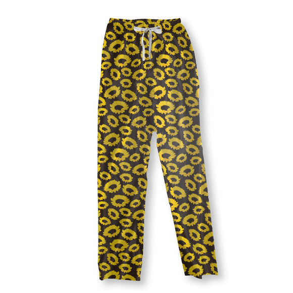 Sunflowers on Fabric Pajama Pants