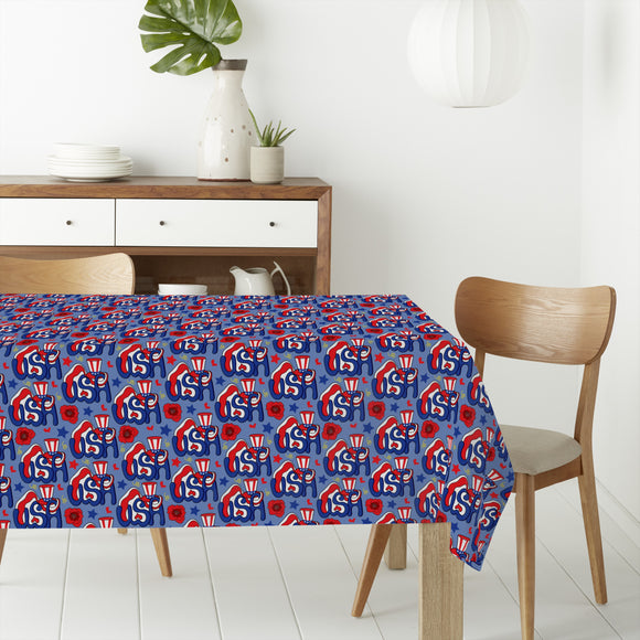 Hello USA Rectangle Tablecloths
