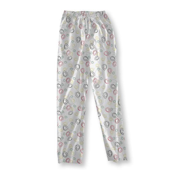Abstract Chalk Curls Pajama Pants
