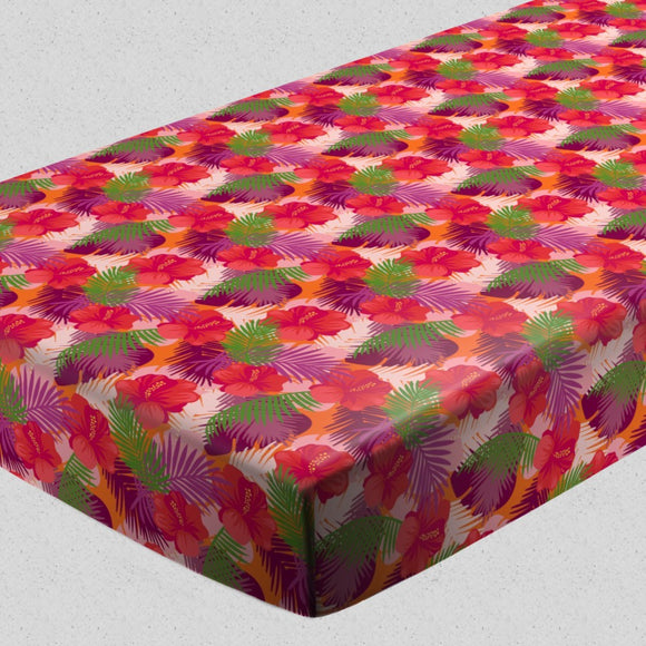 Tropical Hibiscus Fitted Sheets