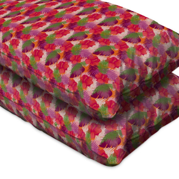 Tropical Hibiscus Pillow Case