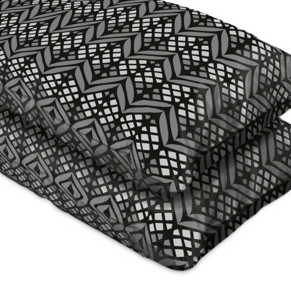 Latticed Bordures Pillow Case