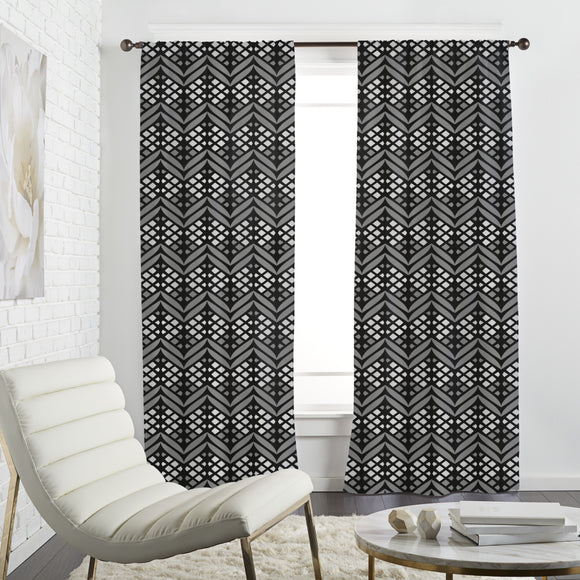 Latticed Bordures Curtains