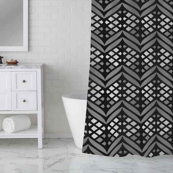 Latticed Bordures Shower Curtain