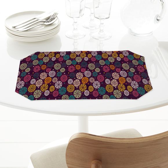 Abstract Snowflakes and Stars Placemats