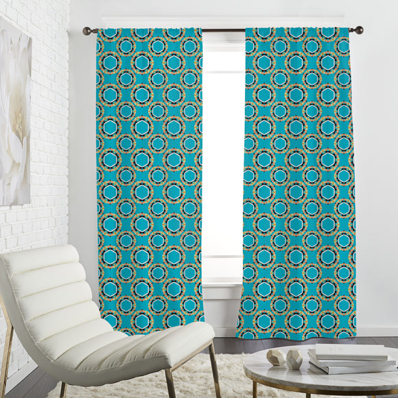 Cool Hexagon Circles Curtains