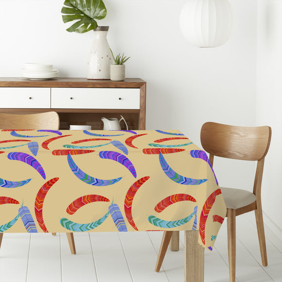 Fantasy Stripe Feathers Rectangle Tablecloths
