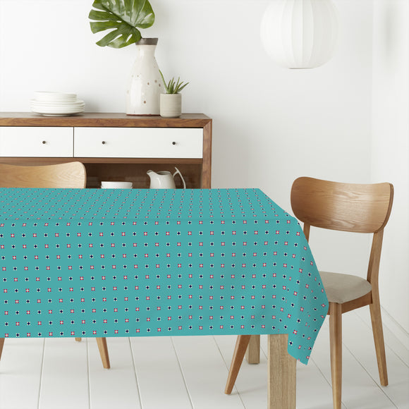 Pixelated Dots Rectangle Tablecloths