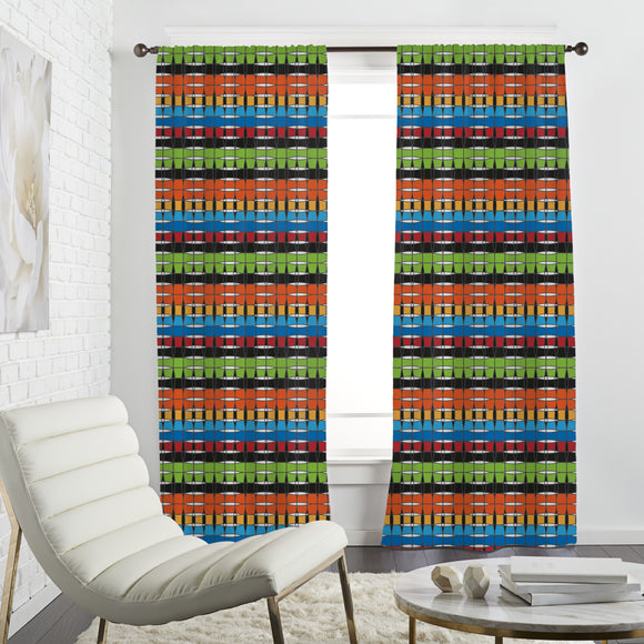 Colorful Basketwork Curtains