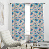 Brushstroke Triangles Curtains