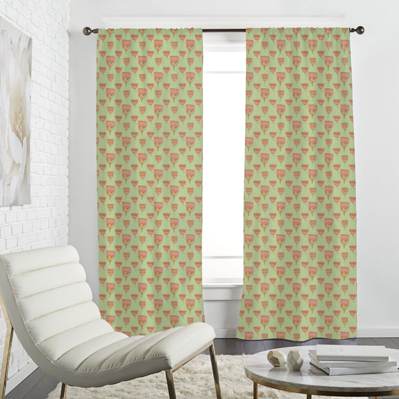 Paisley Tulips Curtains