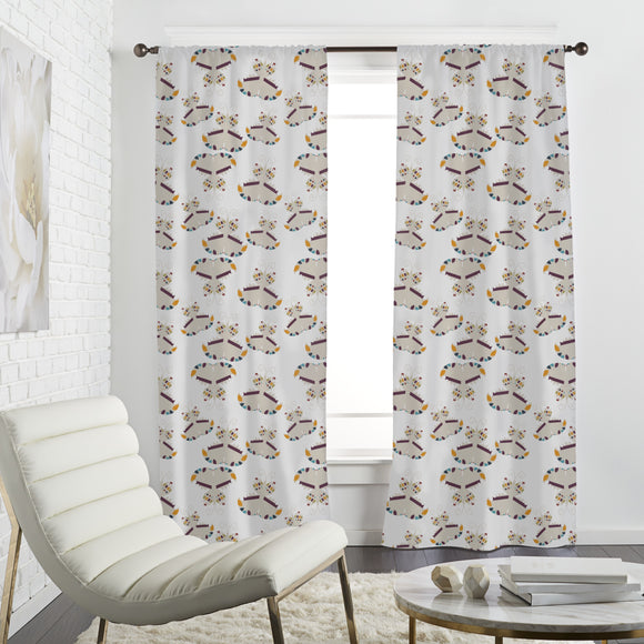 Graphical Butterflies Curtains