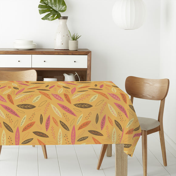 Funny Falling Autumn Leaves Curtains