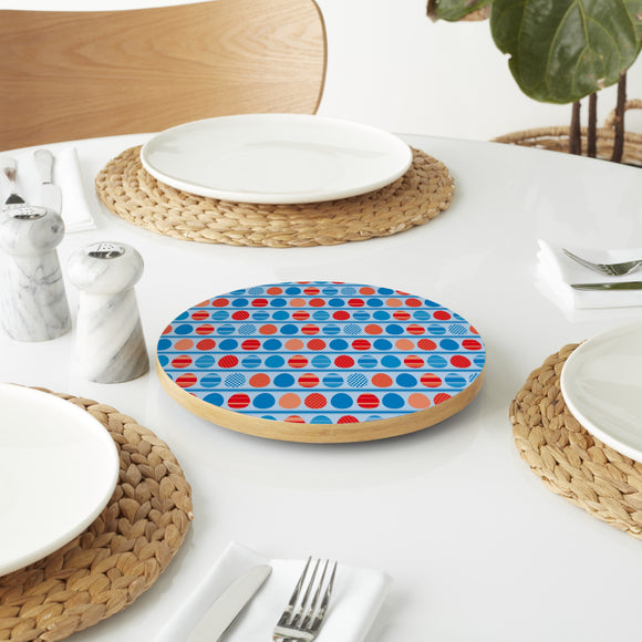 Blue Easteregg Stripes Lazy Susan